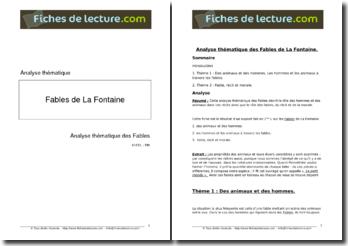 La Fontaine, Les Fables