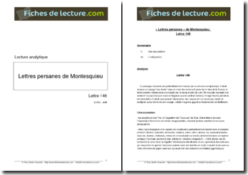 Montesquieu, Les Lettres Persanes, Lettre 146