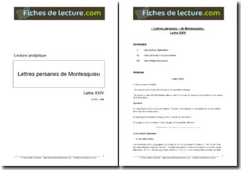 Montesquieu, Les Lettres Persanes, Lettre 24