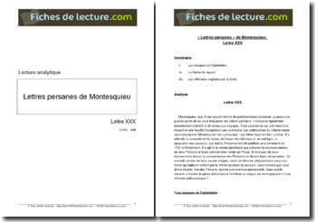 Montesquieu, Les Lettres persanes, Lettre 30