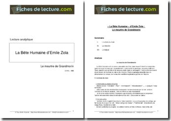 Emile Zola, La Bête humaine, Le meurtre de Grandmorin