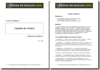 Voltaire, Candide : Chapitre 3