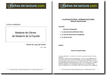 Madame de La Fayette, La princesse de Clèves : La scène du coup de foudre