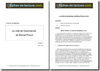 Proust, Le Côté de Guermantes (Livre 1)