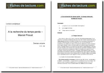 Proust, A la recherche du temps perdu, Dernier volume : Le temps retrouvé