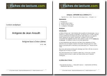 Anouilh, Antigone : Antigone face à Créon