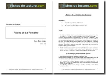 La Fontaine, Fables, Les Deux Coqs