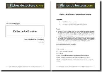 La Fontaine, Fables, Les Membres et l'Estomac