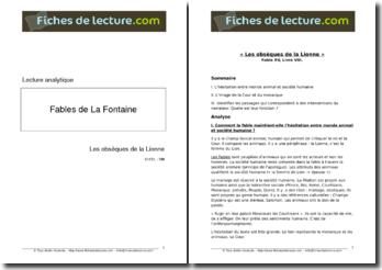 La Fontaine, Fables, Les obsèques de la Lionne