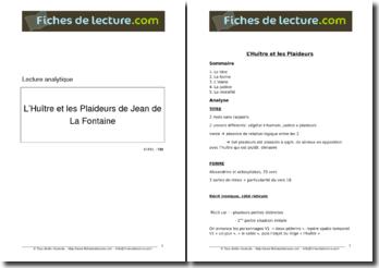 La Fontaine, Fables, L'Huître et les Plaideurs