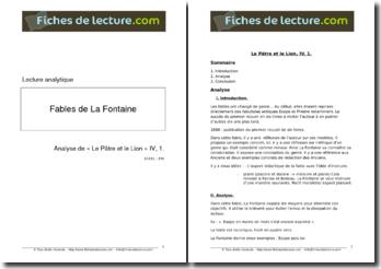 La Fontaine, Fables, Le Pâtre et le Lion