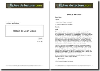 Giono, Regain, Le ruisseau Gaudissart