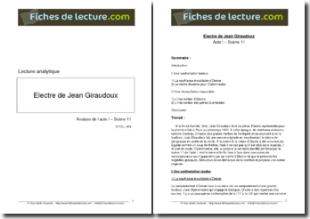 Giraudoux, Electre, Acte I scène 11