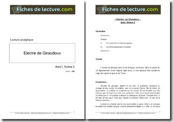 Giraudoux, Electre, Acte I scène 2