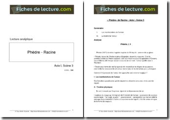 Racine, Phèdre, Acte I scène 3