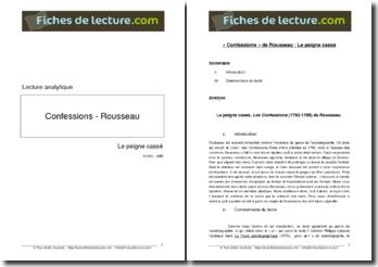Rousseau, Les Confessions, Livre I : Le Peigne cassé