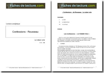 Rousseau, Les Confessions, Le ruban vole