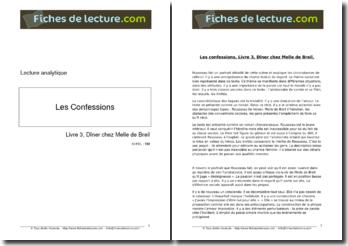 Rousseau, Les Confessions, Livre III : Dîner chez Melle de Breil