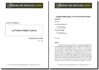 Camus, La Peste, Excipit : Une victoire précaire