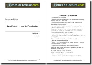 Baudelaire, Les Fleurs du Mal, L'ennemi