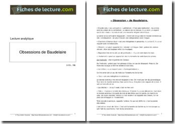 Baudelaire, Les Fleurs du Mal, Obsession