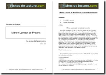Prévost, Manon Lescaut, La scène de la rencontre