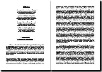 Baudelaire, L'Albatros : Le poète dans la société