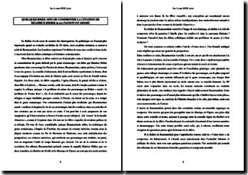 Dissertation sur la trilogie dramatique de Beaumarchais