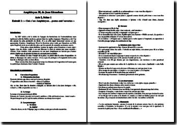 Giraudoux, Amphitryon 38, Acte I Scène 1