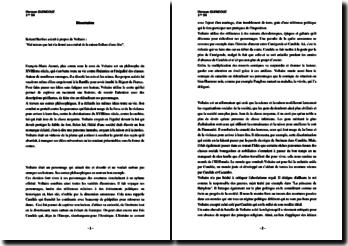 Roland Barthes à propos de Voltaire : Nul mieux que lui n'a donné au combat de la raison l'allure d'une fête