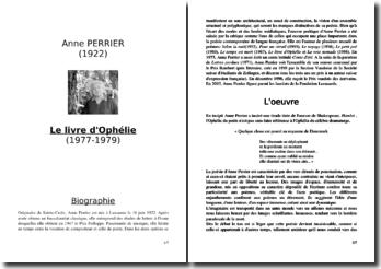 Anne Perrier, Le Livre d'Ophélie