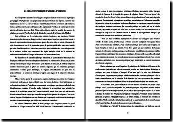 La création poétique de Théodore Agrippa d'Aubigné
