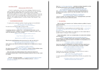 Baudelaire, Spleen, Les Fleurs du Mal (poèmes LXXV-LXXVI-LXXVII-LXXVIII)
