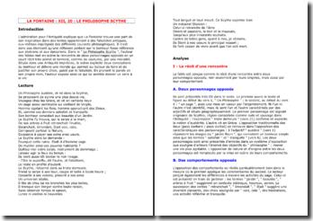 La Fontaine, Le Philosophe scythe : commentaire composé