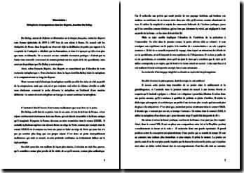 Métaphore et comparaison dans Les Regrets de Joachim Du Bellay