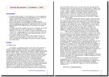 Baudelaire, Le Gâteau, tiré de Le Spleen de Paris