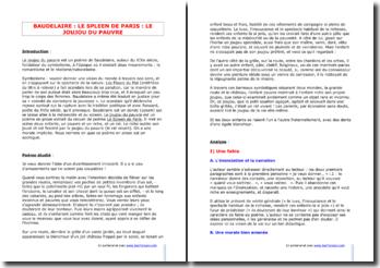 Baudelaire, Le Joujou du pauvre, tiré de Le Spleen de Paris