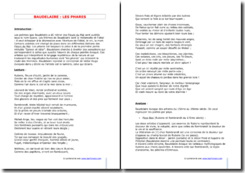 Baudelaire, Les Phares