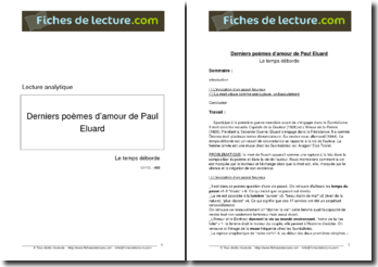 Eluard, Le temps déborde : Lecture analytique