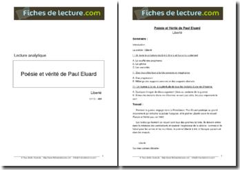 Eluard, Liberté : commentaire