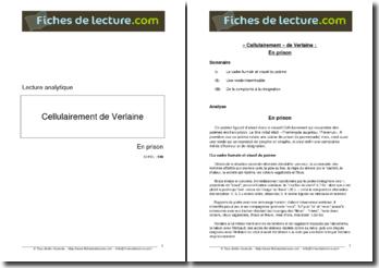 Verlaine, En prison : commentaire composé
