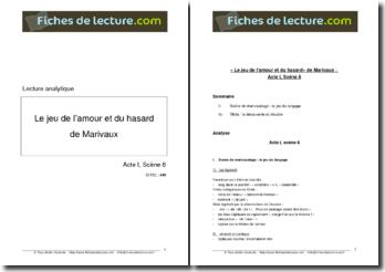 Marivaux, Le Jeu de l'amour et du hasard, Acte I scène 6