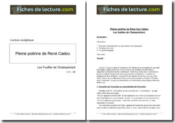 René Guy Cadou, Pleine Poitrine, Les fusillés de Chateaubriant