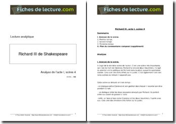 Shakespeare, Richard III, Acte I scène 4