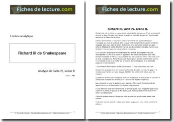 Shakespeare, Richard III, Acte IV scène 2