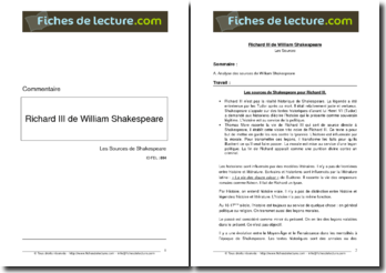 Les sources de Shakespeare