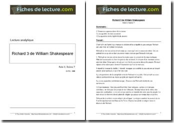 Shakespeare, Richard III, Acte 3 scène 7