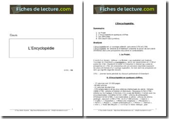 L'Encyclopédie de Denis Diderot et de Jean le Rond Alembert