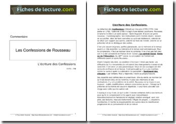 L'écriture des Confessions de Jean-Jacques Rousseau