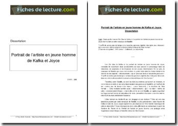 Kafka, Der Bau / Joyce, Le portrait de l'artiste en jeune homme : étude comparée ayant pour thème l'être humain